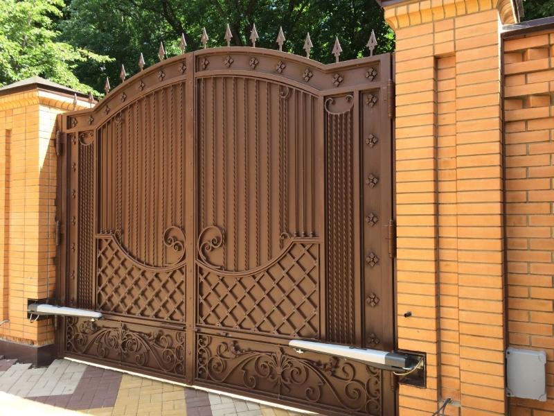 Распашные кованые ворота Тип 3