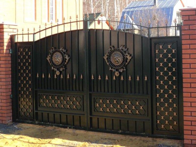 Распашные кованые ворота Тип 4