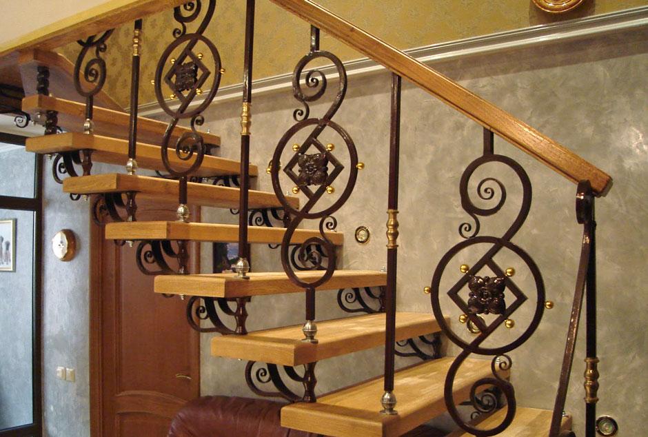 Кованая лестница Тип 1
